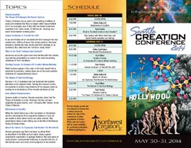 Seattle Creation Conference 2014 Brochure