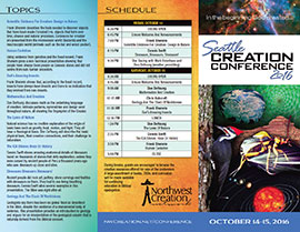 Seattle Creation Conference Brochure